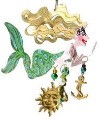 Green Mermaid Fanciful Flight