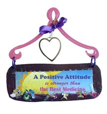 A Positive Attitude Mini Plaque