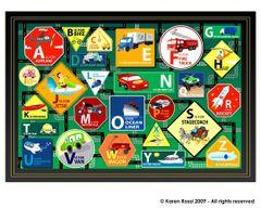 Transportation Alphabet Placemat