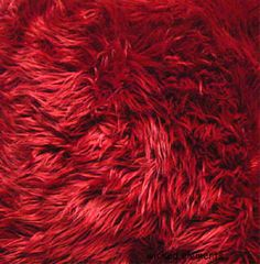 Faux Fur Red Fabric