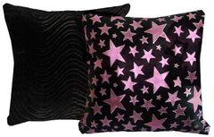 Metallic Pink Stars Pillow Set