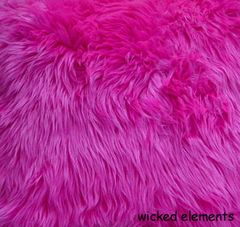 Faux Fur Hot Pink Fabric