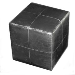 White Gold Grid Cube Seat