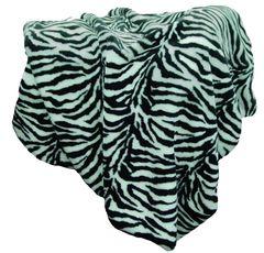 Faux Fur Zebra Throw