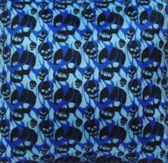 Black Skulls Fabric