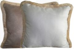 Microfiber Suede Pillows w/ Fringe
