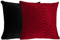 Black & Red Pillow Set