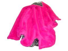 Hot Pink Fuax Fur Throw