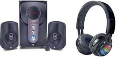 iBall Hi-Bass speaker & Glint Headphone combo