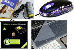 Terabyte Scomp Adapter, optical mouse,1000mbps & keyskin computer Accessories combos