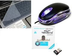 Terabyte optical mouse, 500Mbps & keyskin Computer accessories