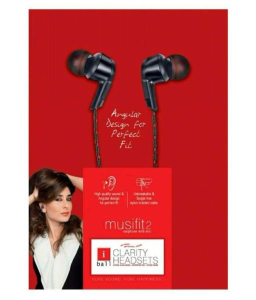 iBall MusiFit2 On Ear Headset with Mic Black