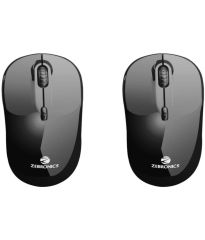 Zebronics shine Black Wireless Mouse (Pack Of 2)