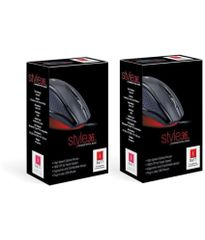 iBall style 36 combo( pack of 2) Black USB Wired Mouse