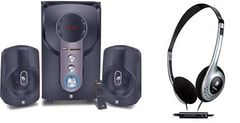 iBall Hi-Bass Speaker & i342 star Headphone combo