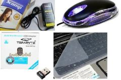 Terabyte optical mouse, 500 mbps, scomp adapter & keyskin computer accessories