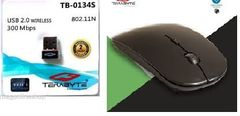 Terabyte 300Mbps wifi adapter & slim mouse combo