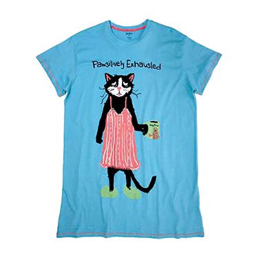 I m Pawsitively Exhausted Night Shirt  aa8e3cff0