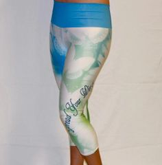 Butterfly Capri Blue Waist band