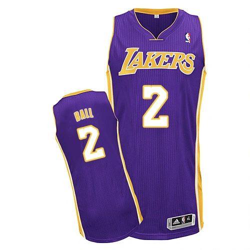 NBA Los Angeles Lakers Lonzo Ball Purple Swingman Jersey ... 28a54e8faa06