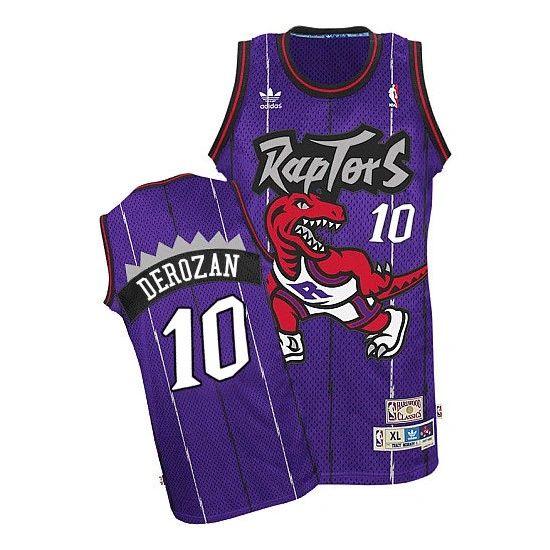 86f913f19cd NBA Toronto Raptors DeMar DeRozan Purple Throwback Jersey ...