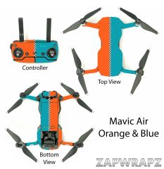 DJI Mavic Air Orange & Blue