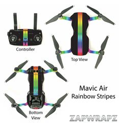 DJI Mavic Air Rainbow Stripes