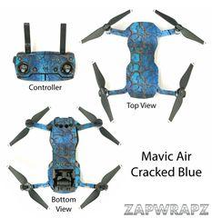 DJI Mavic Air Cracked Blue