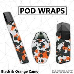 Black & Orange Camo