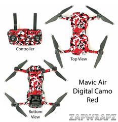 DJI Mavic Air Digital Camo Red