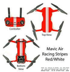 DJI Mavic Air Racing Stripes Red/White