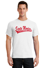6.1oz Tee Shirt with Santa Monica Logo on the front and SMLL Logo on Sleeve
