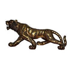 Bengal Tiger Figurine Sculpture Bronze Finish