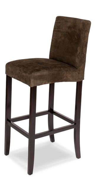 Remarkable Suede Barstool Minimalist Chocolate Brown Gmtry Best Dining Table And Chair Ideas Images Gmtryco