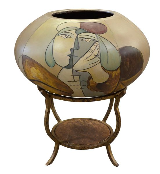 Picasso Vase On Stand Bowl Surreal Decor Martelle