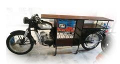 Motorcycle Bar Cabinet Wine Rack Bike