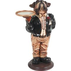 Dog Butler Boxer Tray Statue Puppy