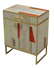 Chest on Stand Modern Picasso Inspired
