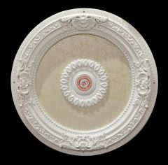 "White Ceiling Medallion Round 24"" Dia"