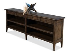 Rustic Console Table in White Oak Wood