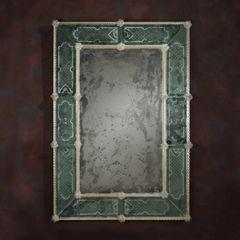 Rectangular Venetian Mirror Antique Green