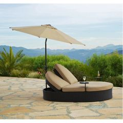 Outdoor Chaise with Umbrella Solara