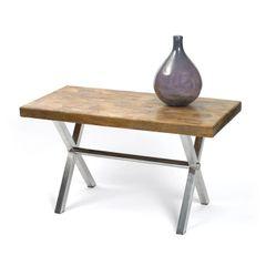 Trestle Desk with Parquet Top Modern