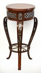 French Accent Table with Acanthus Leaf