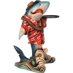Shark Statue Butler Tropical Hawaiian