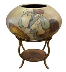 Picasso Vase on Stand Bowl Surreal Decor
