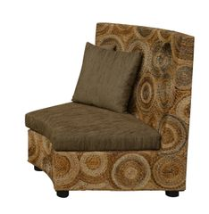 Sofa Section Raffia Brown Contemporary