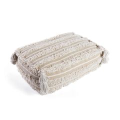 Pouf Cushion Moroccan Wedding Off-White