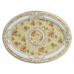 Floral Ceiling Medallion Oval French