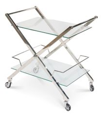 Modern Bar Cart Trolley Steel and Glass